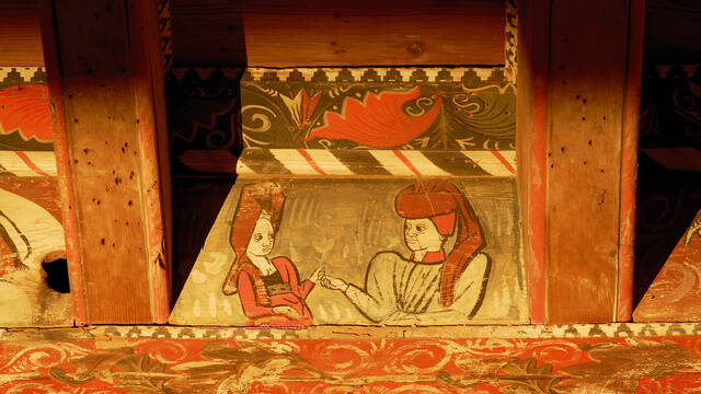 Plafond peint médiéval Pays d'Art et d'Histoire Haut Languedoc et Vignobles