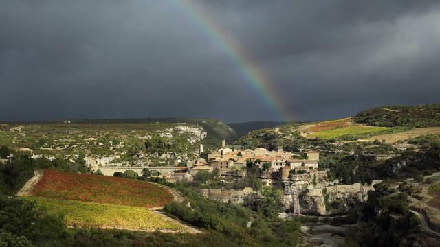 Village vigne causse Languedoc