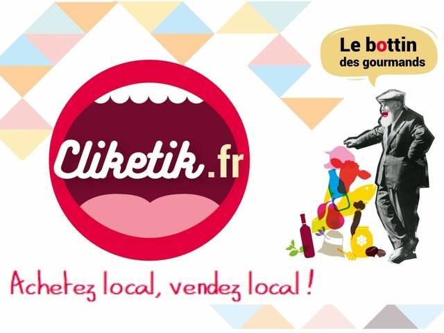 Site Cliketik pour acheter des produits locaux