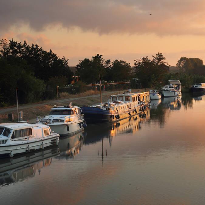 Bateaux sur le Canal du midi