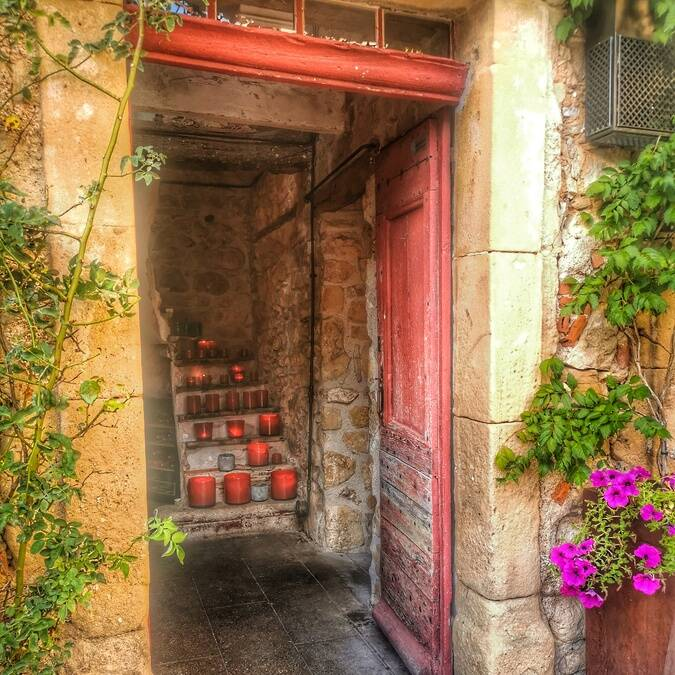 Entrée du Bar à vins - Chateau Castigno ©Aurélie APPERT